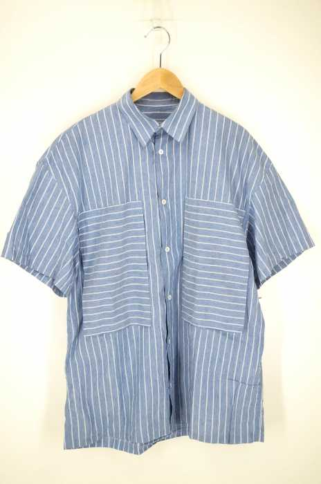 E.TAUTZ (イートウツ) SHORT SLEEVE LINEMAN SHIRT - DOUBLE STRIPE メンズ トップス