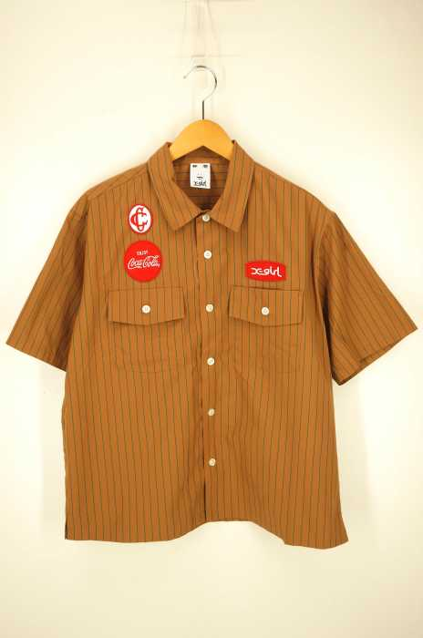 X-girl (エックスガール) COCA-COLA BY X-GIRL S/S WORK SHIRT レディース トップス