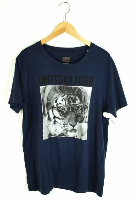ONITSUKA TIGER (オニツカタイガー) ロゴプリントTシャツ メンズ トップス