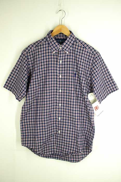 RALPH LAUREN (ラルフローレン) ボタンダウン 半袖チェックシャツ メンズ トップス
