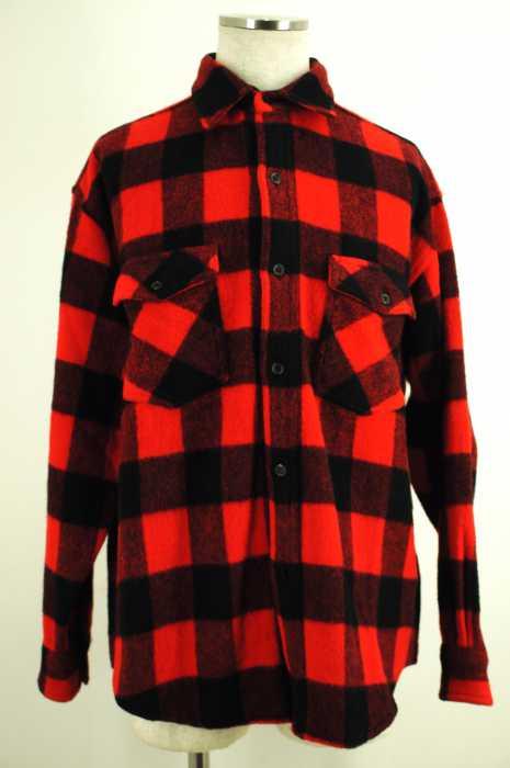 BASSETT WALKER(バセットウォーカー) ウールチェックシャツジャケット メンズ アウター