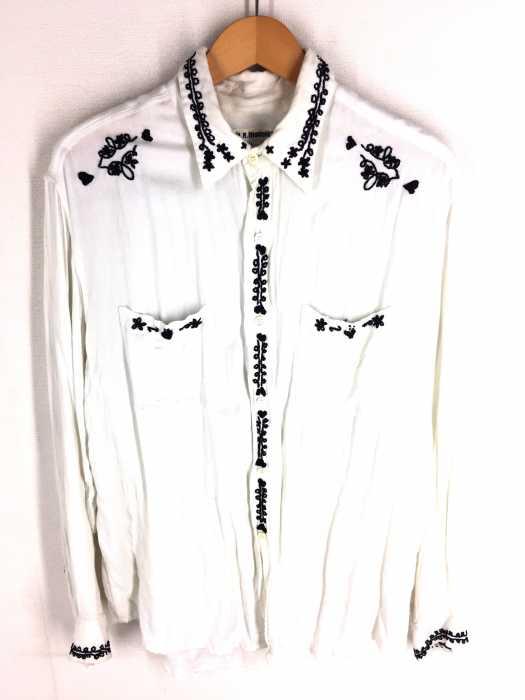 H.R.MARKET(ハリウッドランチマーケット) 刺繍デザインシャツ メンズ トップス