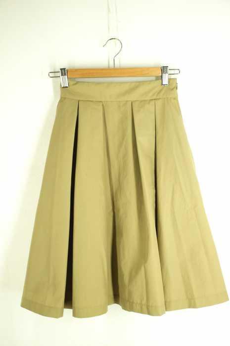 Ray BEAMS (レイビームス) グログラン タックフレアスカート レディース スカート