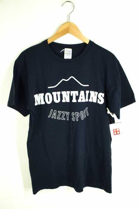 JAZZY SPORT(ジャジースポート) MOUNTAINS ロゴプリントTシャツ メンズ トップス