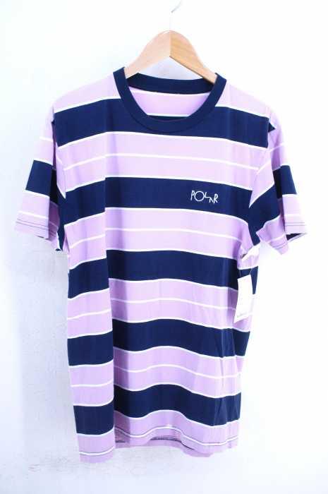 POLAR SKATE CO. (ポーラースケートカンパニー) 胸ロゴ刺繍 マルチボーダーTee メンズ トップス