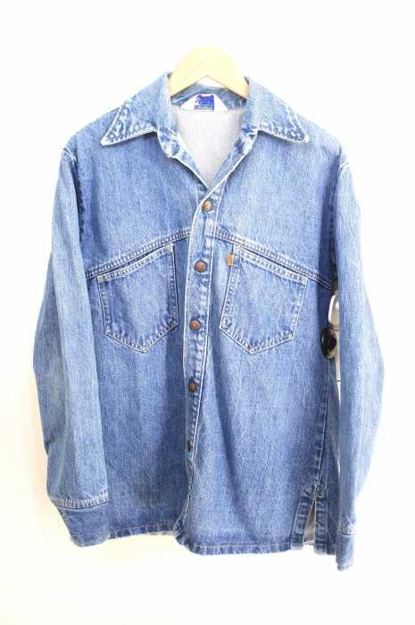 Levi's (リーバイス) 70s サドルマンオープンカラーデニムシャツ オレンジタブ 開襟 メンズ トップス