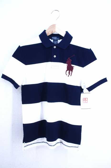 Polo by RALPH LAUREN (ポロバイラルフローレン) ビッグポニー刺繍 ボーダー柄ポロシャツ メンズ トップス