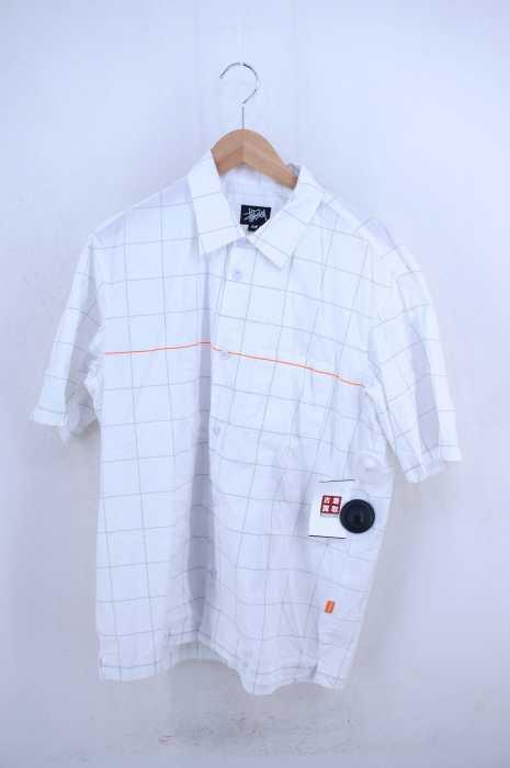 STUSSY (ステューシー) USA製 チェック柄半袖シャツ メンズ トップス
