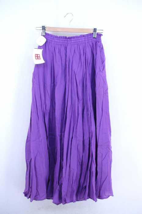 ViS (ビス) インド綿パネルギャザーロングスカート レディース スカート