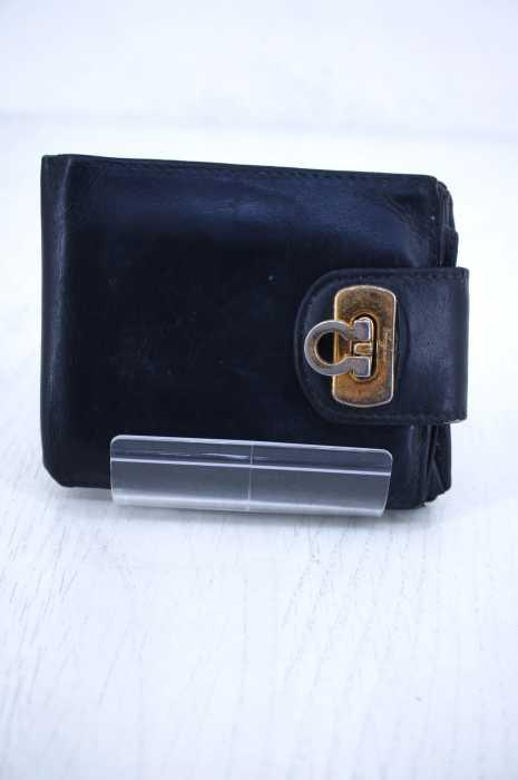 Salvatore Ferragamo (サルヴァトーレフェラガモ) レザー2つ折り財布 メンズ 財布・ケース