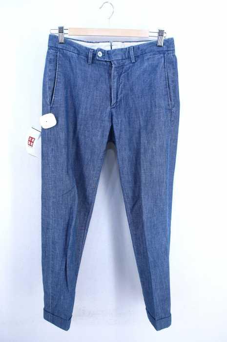 GBS trousers(ジービーエストラウザーズ) シャンブレースラックスパンツ MADE IN ITALY メンズ パンツ