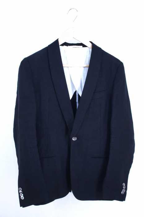 BLUE WORK(ブルーワーク) リネン1Bテーラードジャケット メンズ アウター