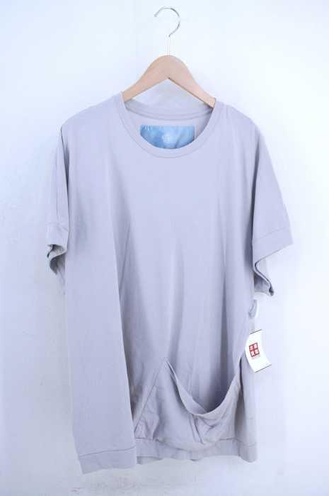 Dulcamara(ドゥルカマラ) コットン天竺ビッグポケットワイドドルマンTシャツ メンズ トップス