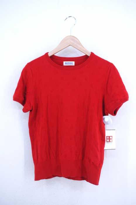 BEAMS BOY (ビームスボーイ) クルーネックニットTシャツ レディース トップス