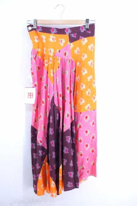 tricot COMME des GARCONS (トリココムデギャルソン) AD2002 02AW ランダムパッチワークデザイン 花柄スカート レディース スカート