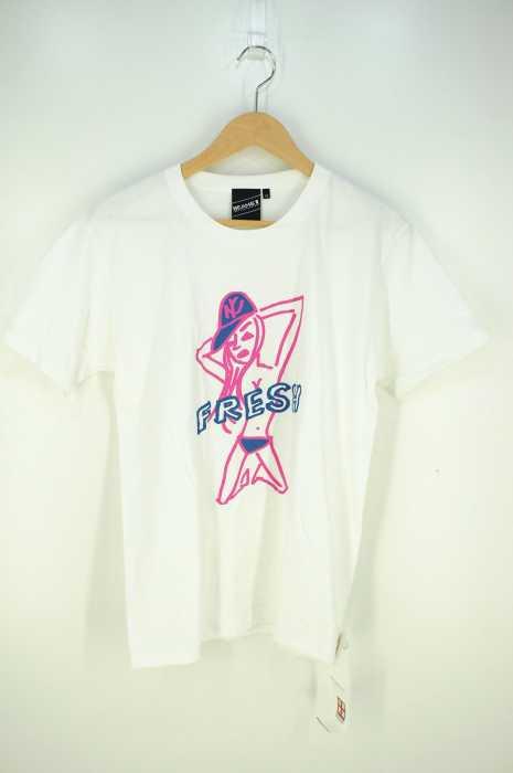 BEAMS T(ビームスティー) FRESHロゴプリントTシャツ メンズ トップス