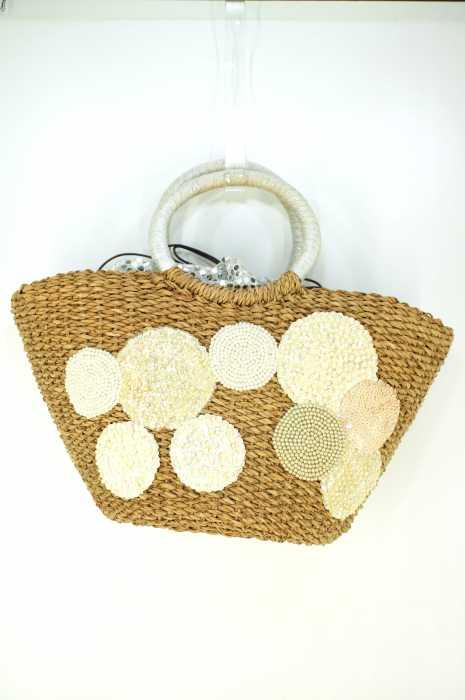 UNITED ARROWS (ユナイテッドアローズ) ビーズ刺繍 ラメかごバッグ レディース バッグ