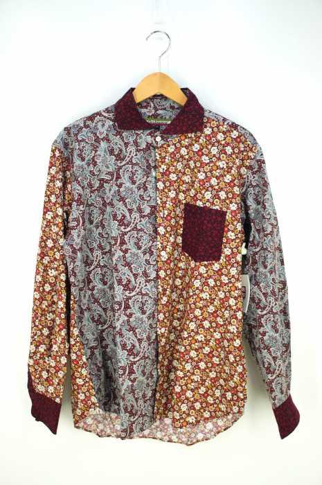 Orobianco (オロビアンコ) 花柄ペイズリー柄切り替えシャツ メンズ トップス