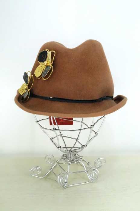 misaharada (ミサハラダ) 英国製 ラビットファーフェルトハット レディース 帽子