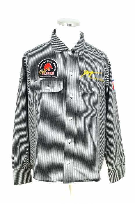 X-LARGE (エクストララージ) ヒッコリーワークシャツ メンズ トップス