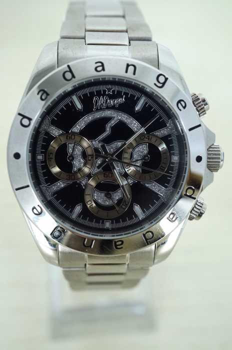 dadangel (ダッドエンジェル) スカル クロノグラフ 腕時計 メンズ ファッション雑貨
