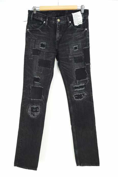 MR.OLIVE (ミスターオリーブ) ダメージ加工デニムパンツ メンズ パンツ