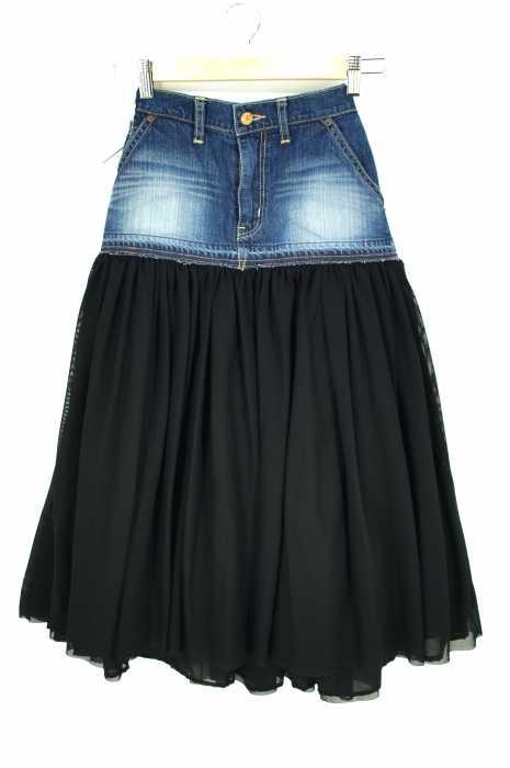 Americana×BEAUTY & YOUTH UNITED ARROWS(ユナイテッドアローズ) ドッキングスカート (デニム×チュール) レディース スカート
