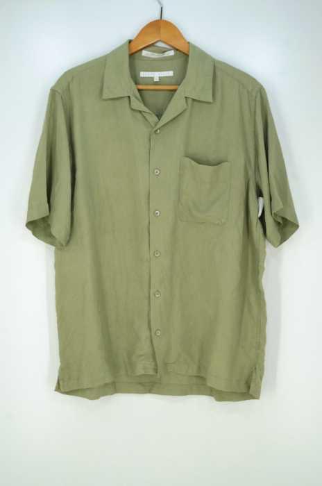 perry ellis(ペリーイリス) 90s vintage silk shirt 開襟 オープンカラー ヴィンテージ シルク100% メンズ トップス