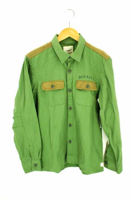 roial(ロイアル) スエード調ミリタリーシャツ メンズ トップス