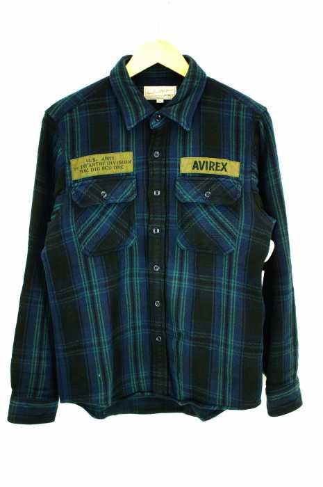 AVIREX(アヴィレックス) フランネルシャツ フォート リリー/FLANNEL CHECK SHIRT FORT RILEY メンズ トップス