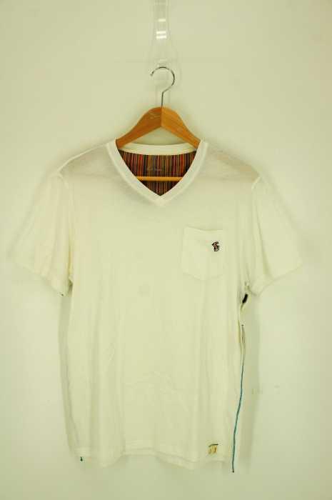 Paul Smith (ポールスミス) ワンポイント刺繍 フロントポケットVネックTシャツ メンズ トップス