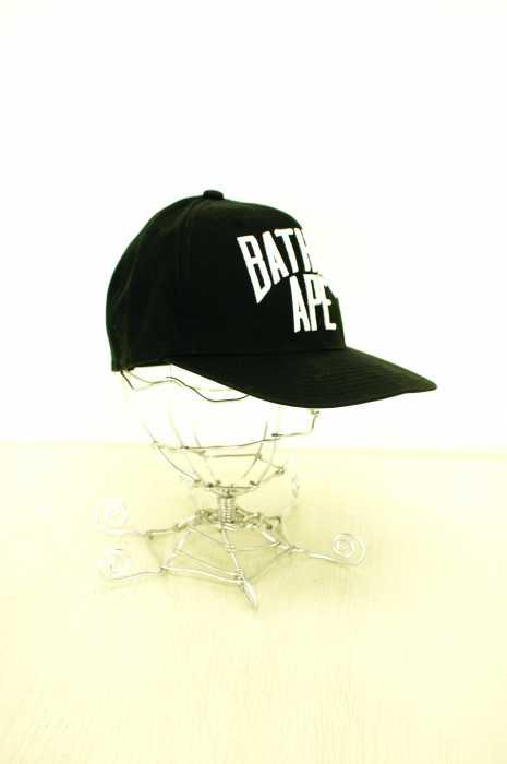 A BATHING APE (アベイシングエイプ) ロゴキャップ ブラック メンズ 帽子