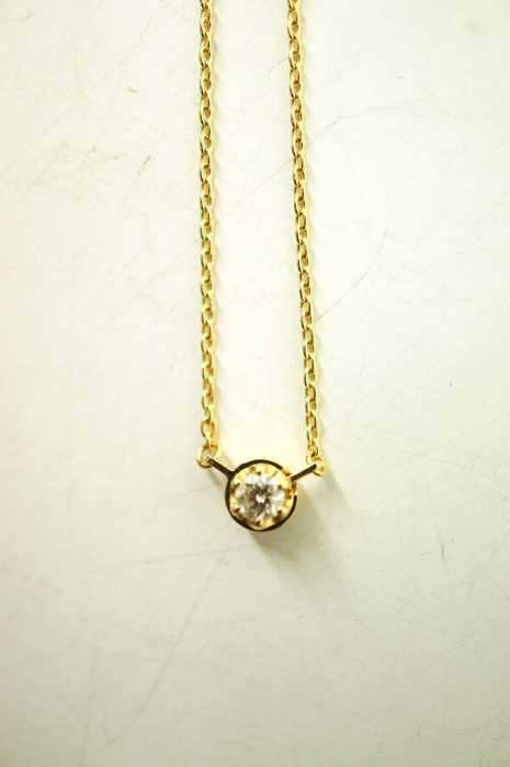 shihara (シハラ) K18YG  0.10ctワンストーンダイヤモンド レディース アクセサリー