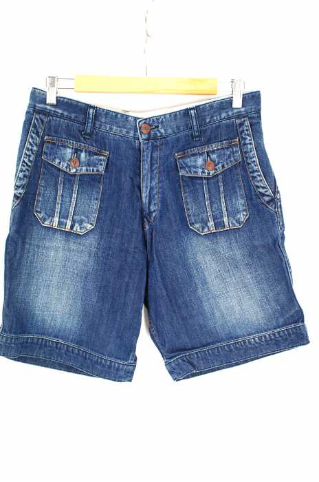FACTOTUM (ファクトタム) ブリーチ加工デニムショートパンツ メンズ パンツ