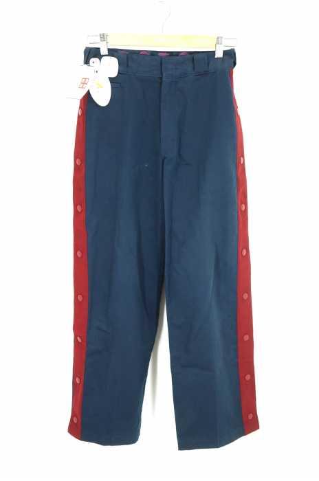 MYne×Dickies(マイン ディッキーズ) 17SS side line snap wide pants サイドボタンスナップワイドパンツ メンズ パンツ