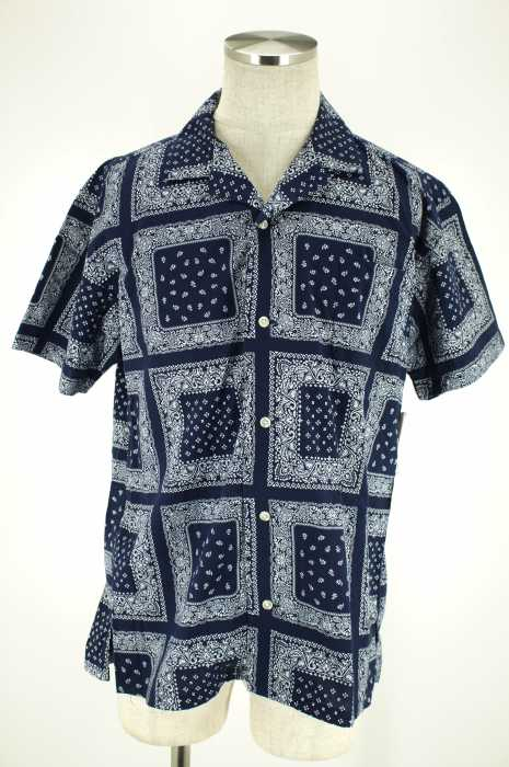 RAGEBLUE (レイジブルー) ペイズリー柄半袖シャツ メンズ トップス
