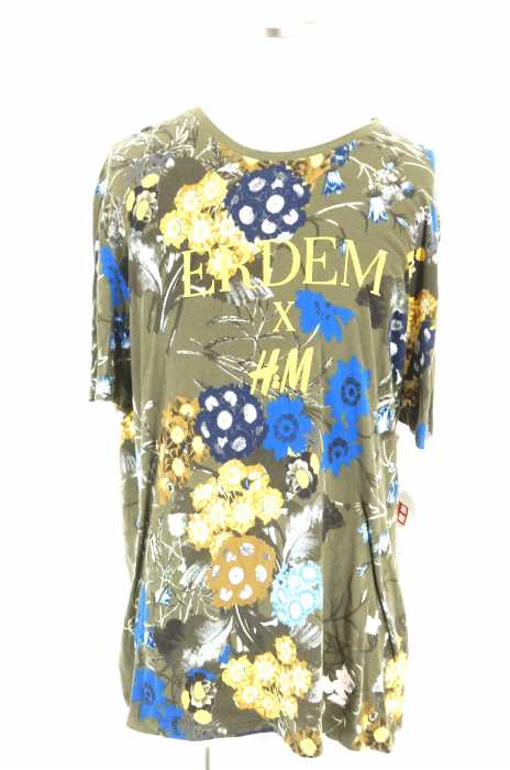 ERDEM × H&M(アーデムエイチアンドエム) 花柄ロゴプリント半袖Tシャツ メンズ トップス