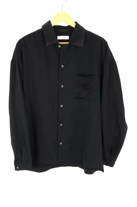 LIDnM(リドム) ダブルサテンオープンカラーシャツ メンズ トップス