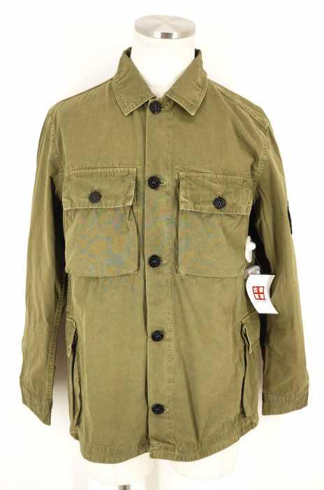 STONE ISLAND (ストーンアイランド) Tela GD Pocket Overshirt 製品染めミリタリーシャツジャケット メンズ アウター