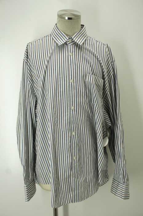 VETEMENTS×COMME des GARCONS SHIRT(ヴェトモン×コムデギャルソンシャツ) 17SS 「OVERSIZE SHIRT」 オーバーサイズストライプシャツ メンズ トップス