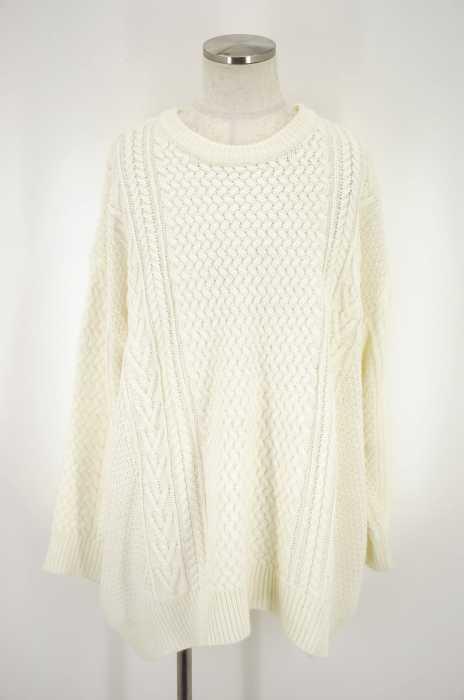 Louches(ルーシュ) ケーブル編みオーバーサイズニットセーター メンズ トップス