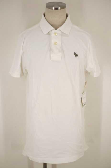 RUEHL No.925 (ルールナンバー925) 胸ブルドッグ刺繍鹿の子半袖ポロシャツ メンズ トップス