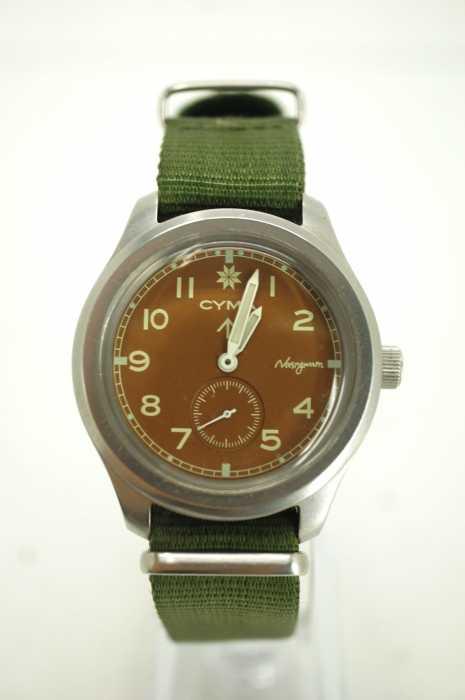 Nasngwam×CYMA (ナスングワム×シーマ) 別注 ミリタリーウォッチ 腕時計 メンズ ファッション雑貨