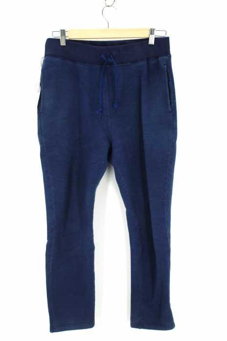 PORTER CLASSIC (ポータークラシック) インディゴスウェットパンツ メンズ パンツ