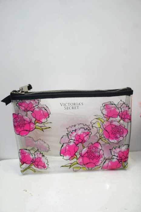 Victoria's secret  (ヴィクトリアシークレット) 花柄クリアポーチ レディース バッグ