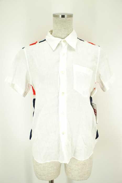 JUNYA WATANABE COMME des GARCONS (ジュンヤワタナベコムデギャルソン) AD2000 ユニオンジャック刺繍 リネンシャツ レディース トップス