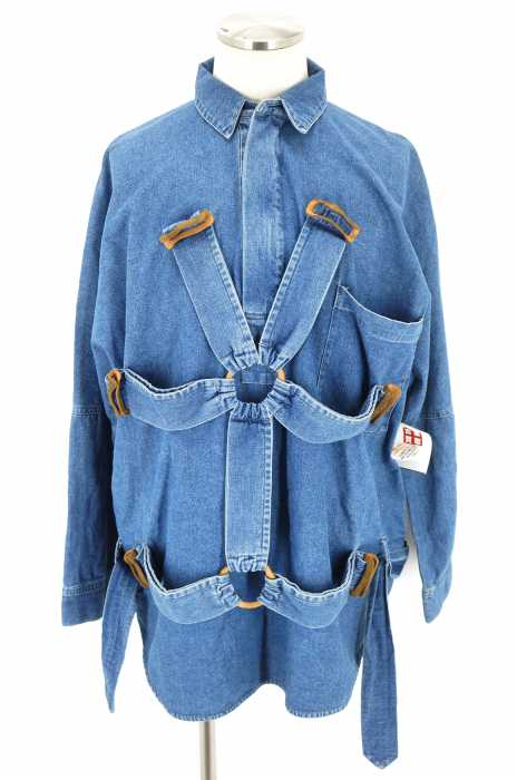 NEON SIGN (ネオンサイン) Bohemian Pareshute Shirts デニムシャツ メンズ アウター