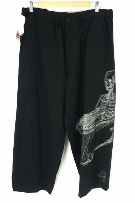 Yohji Yamamoto POUR HOMME (ヨウジヤマモトプールオム) 16SS スカルプリントワイドパンツ メンズ パンツ