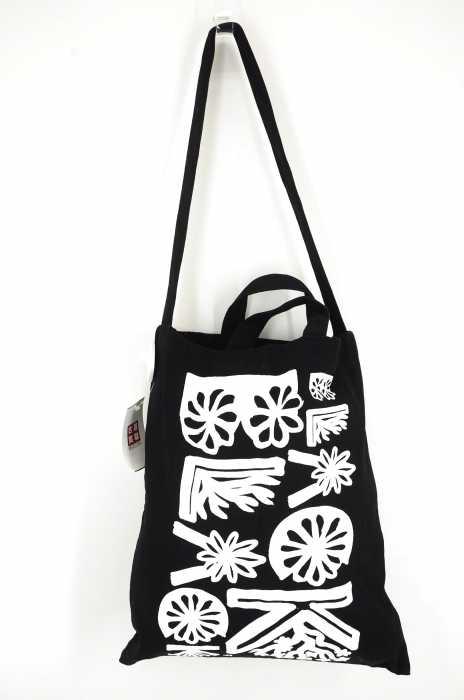 BLACK COMME des GARCONS (ブラックコムデギャルソン) 2WAYコットンプリントショルダー&トートバッグ メンズ バッグ