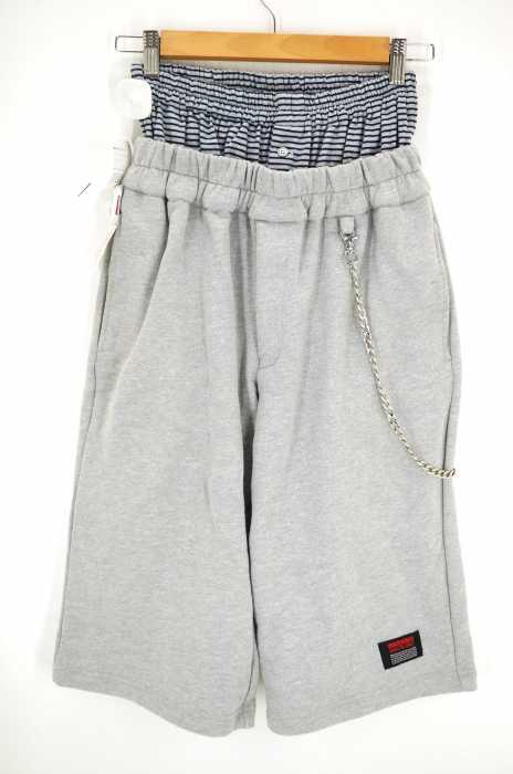 XANDER ZHOU (ザンダー ゾウ) レイヤードハーフパンツ メンズ パンツ